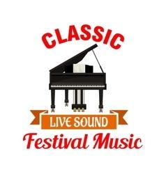 Piano Classic music festival emblem vector image
