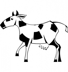 stylization cow vector image