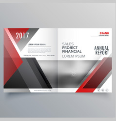 Brochure magazine cover page template layout in vector
