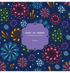 Holiday fireworks frame seamless pattern vector