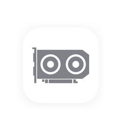 Video card icon pictogram vector