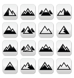 Mountain buttons set vector