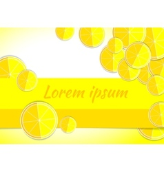 Lemon yellow backgrounds fruits vector