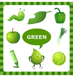 Learning green color vector
