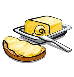 fresh butter vector image
