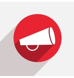 Modern loudspeaker red circle icon vector