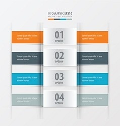 Rectangle banner orange blue gray color vector
