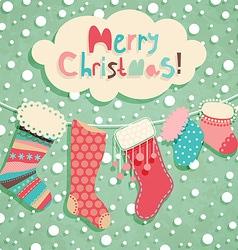 funny christmas postcard vector image