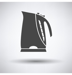 Kitchen electric kettle icon vector