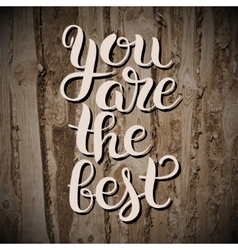 Modern calligraphy positive quote you are the best vector