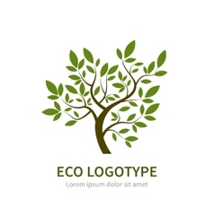 Stylized simple tree logo vector
