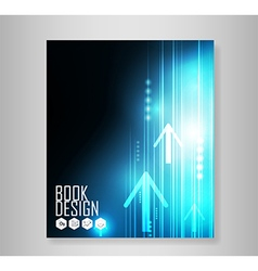 Abstract blue arrows technology vector