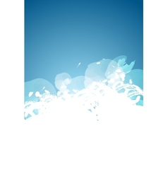 Abstract grunge blue and white background vector