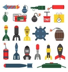 Bomb and rockets set vector