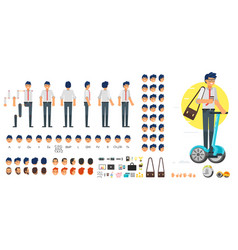 businessman character creation set vector image