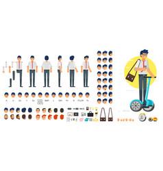 Businessman character creation set vector