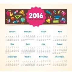 Calendar 2015 year school vector