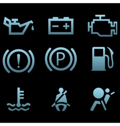 Car interface symbols vector image