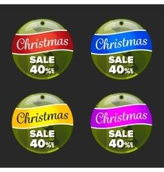 Christmas sale badge vector