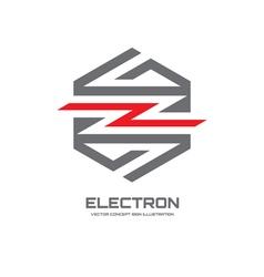 Electron - logo concept vector image vector image