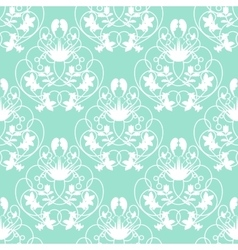 Elegant damask mint seamless background vector