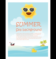 Enjoy tropical summer holiday background vector