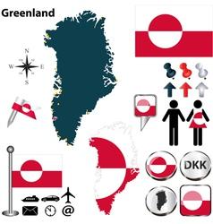 Greenland map small vector