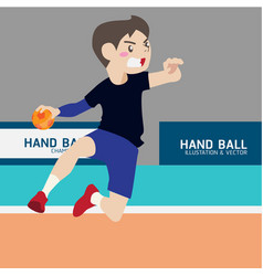 Handball athletic sport cartoon set vector