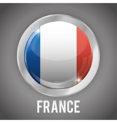 Isolated france button design vector