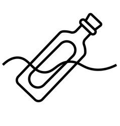 message in a bottle icon vector image vector image
