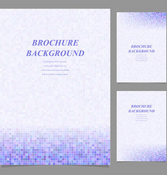 Modern square pattern brochure background set vector