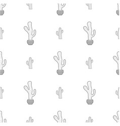pattern with cactus vector image