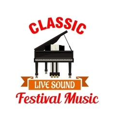 Piano Classic music festival emblem vector image vector image
