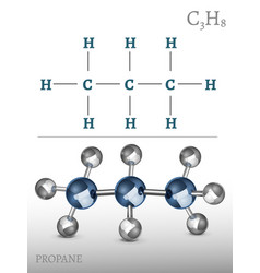 propane molecule image vector image vector image
