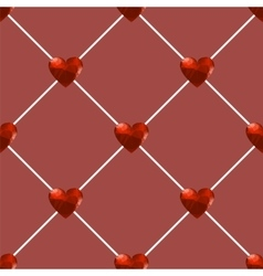 Seamless Polygonal Hearts Pattern vector image vector image