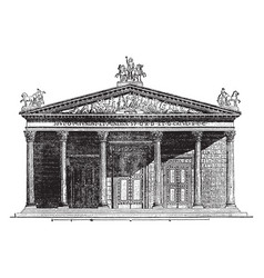 Temple of jupiter capitolinus at rome vintage vector