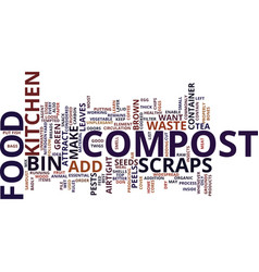 The best food for your compost bin text vector