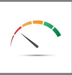 Simple color tachometer with a pointer vector