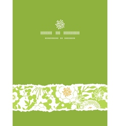 Green and golden garden silhouettes vertical torn vector
