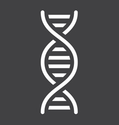 Dna solid icon science and biology vector
