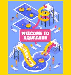 Aqua park poster vector