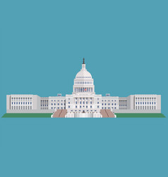 Capitol building united states of america vector