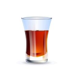 Shot of whiskey isolated on white background vector image