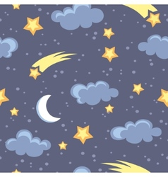 Night sky vector