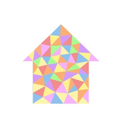 House with colored triangles vector