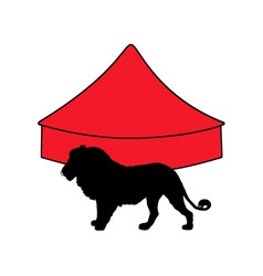 Lion in circus vector