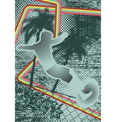 vintage urban grunge surfer vector image