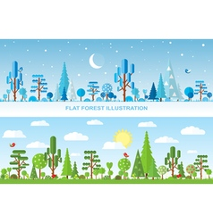 Flat forest vector