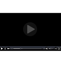 Video player template for web vector