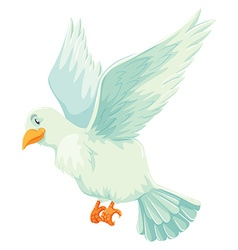 White bird spreading its wings vector